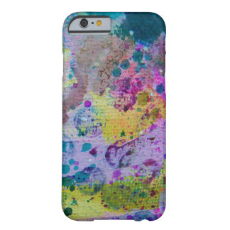 Purple blue & green abstract splatter cell cas barely there iPhone 6 case