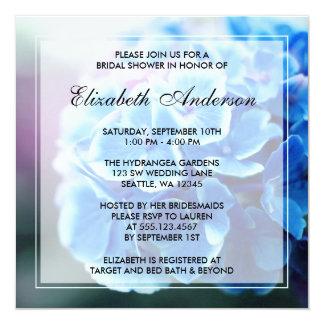Purple Blue Hydrangea Bridal Shower Card