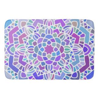 Purple Blue Mandala Bath Mat Bath Mats