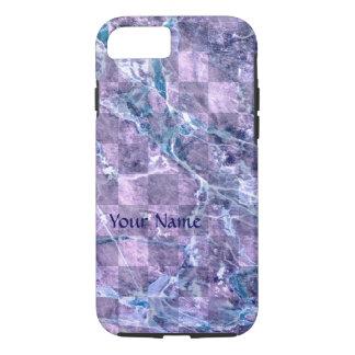 Purple Blue Marble Pattern Violet Lilac iPhone 7 Case