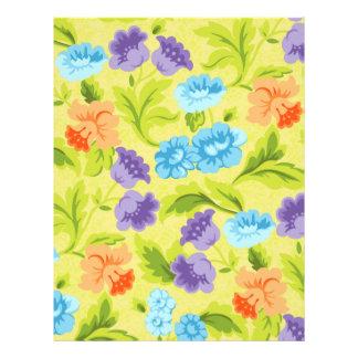 Purple Blue & Orange Springtime Flowers Custom Flyer