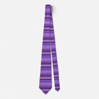 Purple Blue Pink Striped Pattern Tie