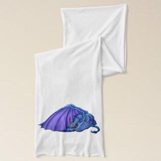 Purple & Blue Sleeping Dragon Scarf