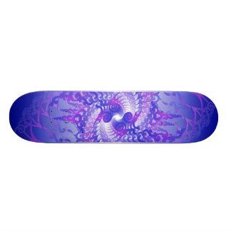 Purple & Blue Spirals: Skateboard