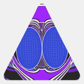 Purple blue superfly design sticker