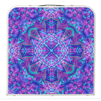 "Purple & Blue Vintage Kaleidoscope 48"" Pong Table"