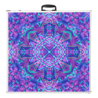 "Purple & Blue Vintage Kaleidoscope  96"" Pong Table"