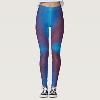 Purple & blue vortex leggings