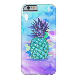 Purple & Blue Watercolors & Posterized Pineapple Barely There iPhone 6 Case