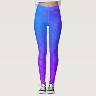 Purple & Blue Wave Leggings