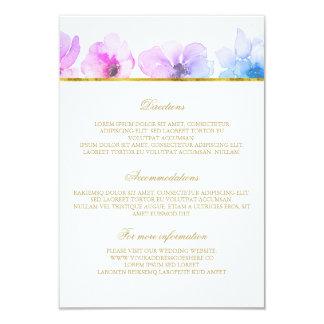 Purple Blue Wedding Details - Information 9 Cm X 13 Cm Invitation Card