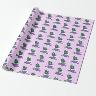 Purple Blueberry Muffin Birthday Gift Wrap