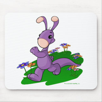 Purple Blumaroo marching through Roo Island Mouse Pad