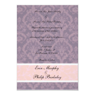 purple blur wedding invitation