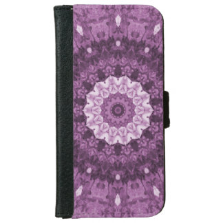 Purple Boho Ethnic Abstract Kaleidoscope iPhone 6 Wallet Case