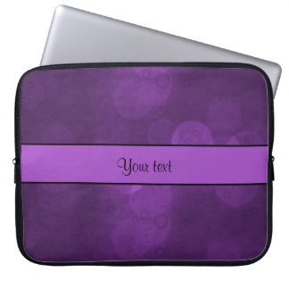 Purple Bokeh Laptop Sleeve