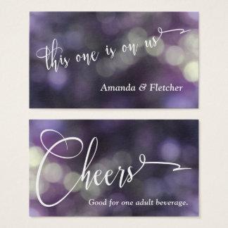 Purple Bokeh Light & Typography 32 Drink Tickets