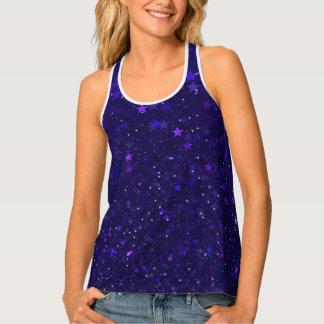 Purple Bokeh Stars Singlet
