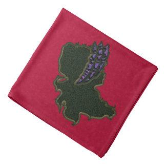Purple Bonnet Cameo Bandanna