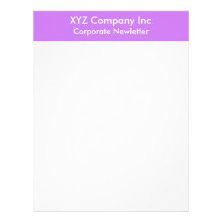 purple border 21.5 cm x 28 cm flyer