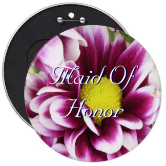 Purple Bouquet Maid Of Honor Pin