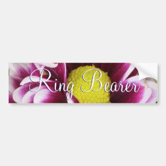 Purple Bouquet Ring Bearer Bumper Sticker