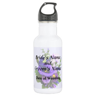 Purple Bouquet W Lilies And Delphinium Supplies 532 Ml Water Bottle