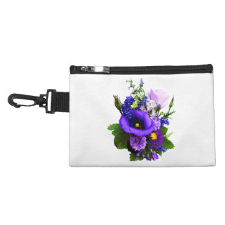 Purple Bouquet With Lilies And Delphinium Accessory Bag