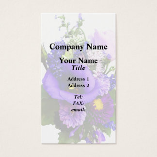 Purple Bouquet With Lilies And Delphinium Business Card