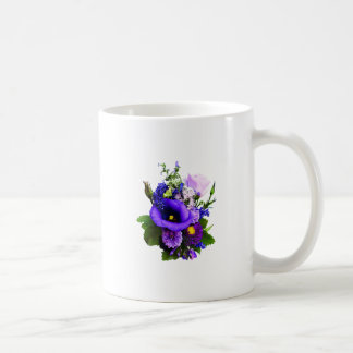 Purple Bouquet With Lilies And Delphinium Coffee Mug