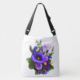 Purple Bouquet With Lilies And Delphinium Crossbody Bag