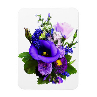 Purple Bouquet With Lilies And Delphinium Magnet