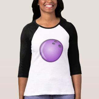 Purple Bowling Ball Tee Shirts
