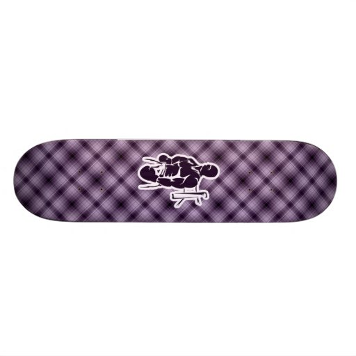 Purple Boxing Skate Board Decks