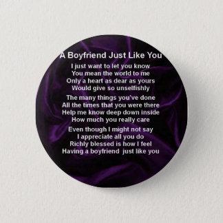 Purple -  Boyfriend Poem 6 Cm Round Badge