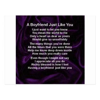 Purple -  Boyfriend Poem Postcard