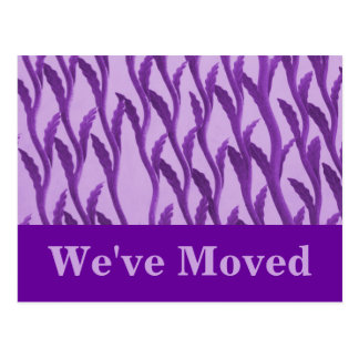 purple branches We ve Moved Postcard