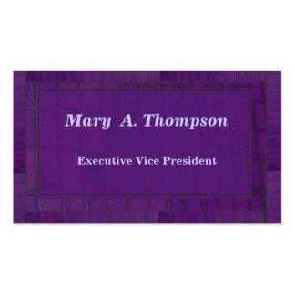 Purple Brick design Business Card Template