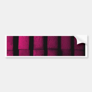 Purple Bricks Bumper Sticker