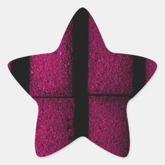 Purple Bricks Star Sticker