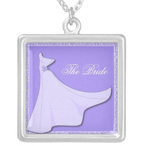 Purple Bridal Gown - Bridal Shower necklace