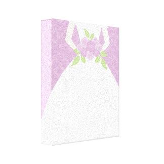 Purple Bride Gallery Wrap Canvas