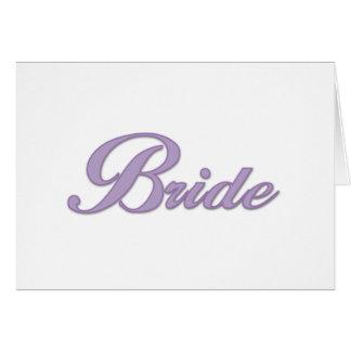 Purple Bride  Greeting Card