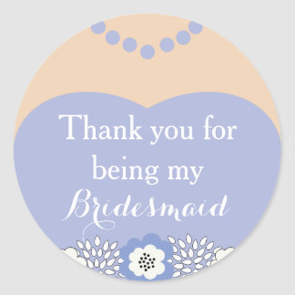 Purple Bridesmaid Wedding Thank You Stickers