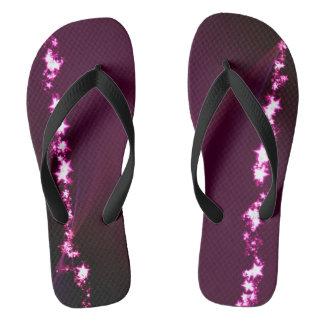 Purple bright stars thongs
