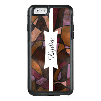 Purple, Brown, Burgundy Abstract Art, 5a OtterBox iPhone 6/6s Case