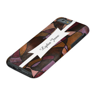Purple, Brown, Burgundy Abstract Art, 5a Tough iPhone 6 Case