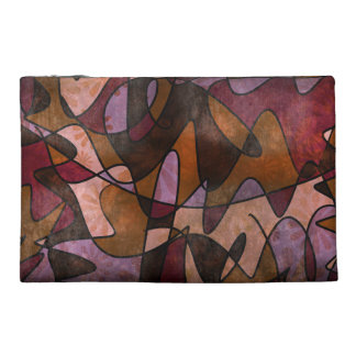 Purple, Brown, Burgundy Abstract Cosmetic Bag