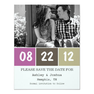 Purple & Brown Palette Save The Date Announcements