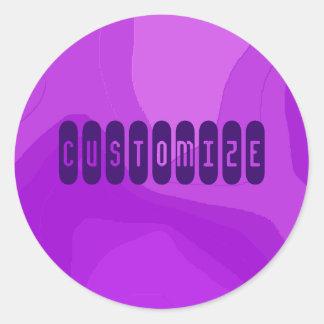 Purple Bubble Gum - Template Classic Round Sticker